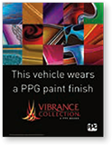 "Vehicle Show Sign: ""This vehicle wears a PPG paint finish"""