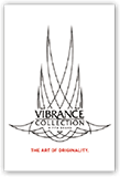 Clear color window cling featuring the Vibrance Collection logo
